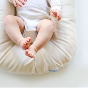 Snuggle Me Organic Baby Lounger Cover Natural